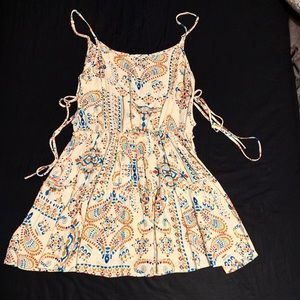 Boho Hippie Chic Mini Dress Medium